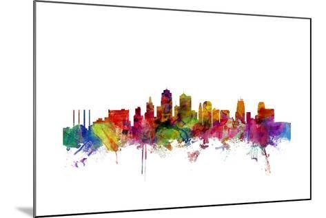 Kansas City Skyline-Michael Tompsett-Mounted Art Print