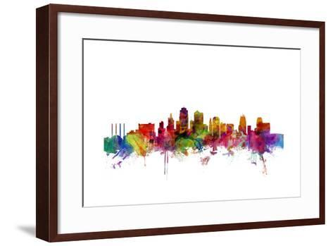 Kansas City Skyline-Michael Tompsett-Framed Art Print