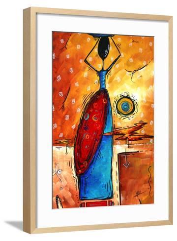 African Queen-Megan Aroon Duncanson-Framed Art Print
