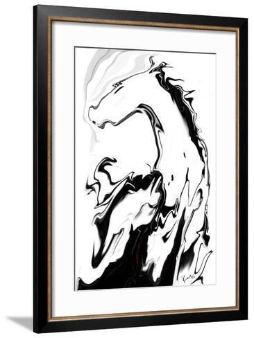 White Horse-Rabi Khan-Framed Art Print