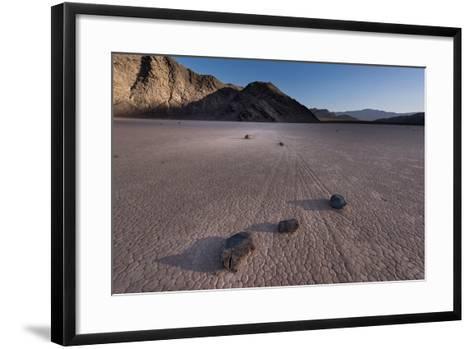 Rocks on the Racetrack Death Valley-Steve Gadomski-Framed Art Print