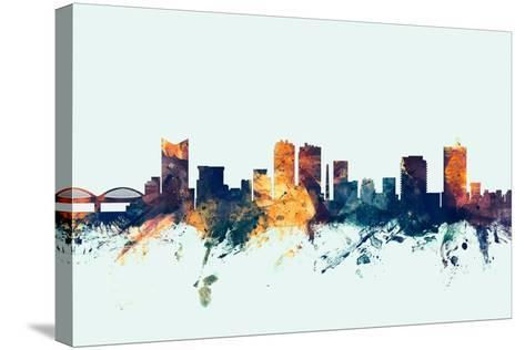 Fort Worth Texas Skyline-Michael Tompsett-Stretched Canvas Print