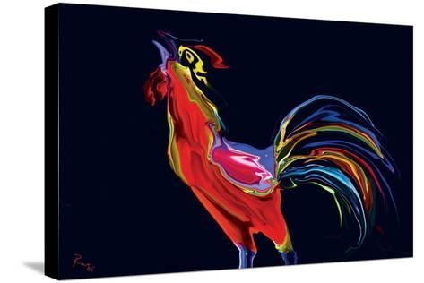 The Red Rooster-Rabi Khan-Stretched Canvas Print