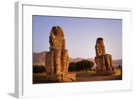 Colossi Of Memnon In Egypt-Charles Bowman-Framed Art Print