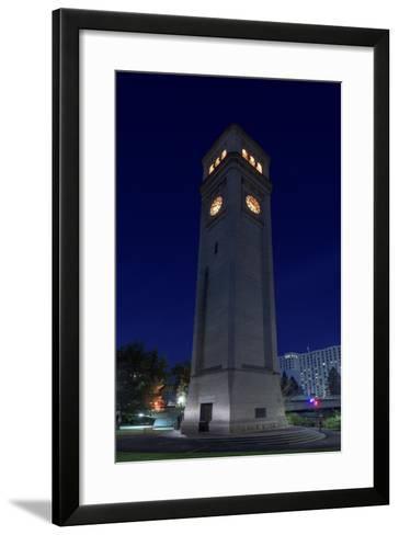 Clock Tower Spokane WA-Steve Gadomski-Framed Art Print