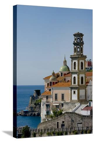 Atrani Church Tower Italy-Charles Bowman-Stretched Canvas Print