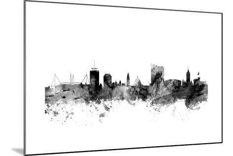 Cardiff Wales Skyline-Michael Tompsett-Mounted Art Print