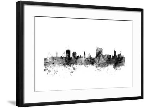 Cardiff Wales Skyline-Michael Tompsett-Framed Art Print