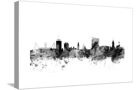 Cardiff Wales Skyline-Michael Tompsett-Stretched Canvas Print