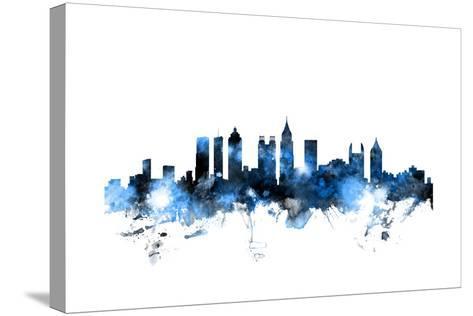 Atlanta Georgia Skyline-Michael Tompsett-Stretched Canvas Print