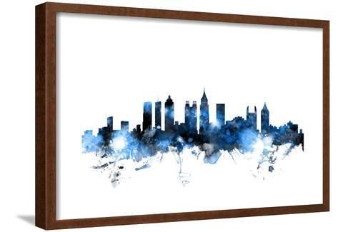 Atlanta Georgia Skyline-Michael Tompsett-Framed Art Print
