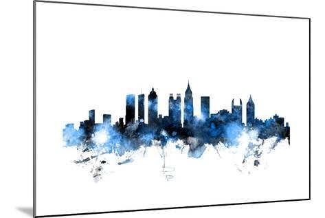Atlanta Georgia Skyline-Michael Tompsett-Mounted Art Print