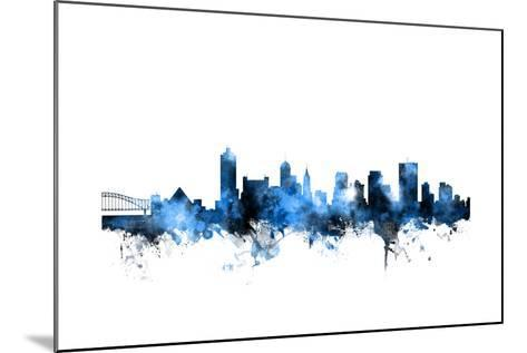 Memphis Tennessee Skyline-Michael Tompsett-Mounted Art Print