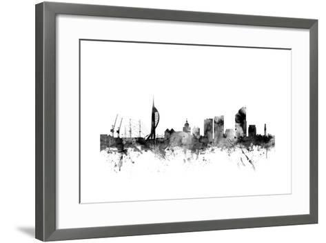 Portsmouth England Skyline-Michael Tompsett-Framed Art Print