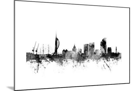 Portsmouth England Skyline-Michael Tompsett-Mounted Art Print
