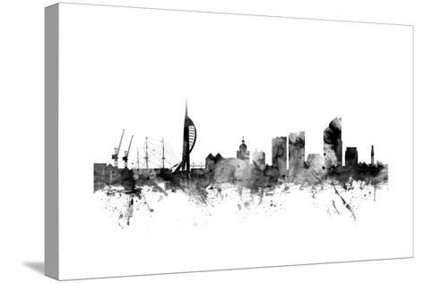 Portsmouth England Skyline-Michael Tompsett-Stretched Canvas Print