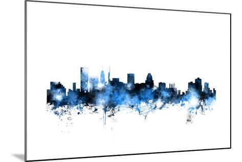 Baltimore Maryland Skyline-Michael Tompsett-Mounted Art Print
