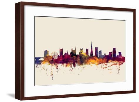 Bristol England Skyline-Michael Tompsett-Framed Art Print