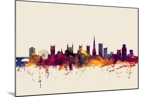 Bristol England Skyline-Michael Tompsett-Mounted Art Print