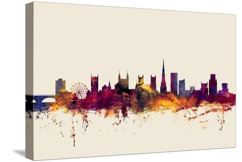 Bristol England Skyline-Michael Tompsett-Stretched Canvas Print