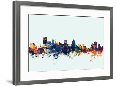 Baltimore Maryland Skyline-Michael Tompsett-Framed Art Print