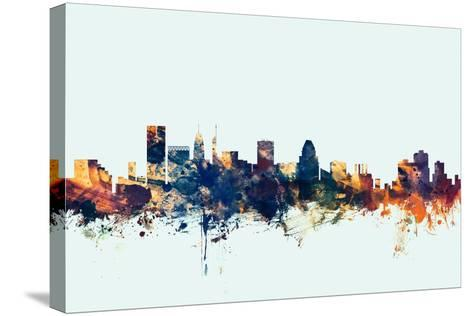 Baltimore Maryland Skyline-Michael Tompsett-Stretched Canvas Print