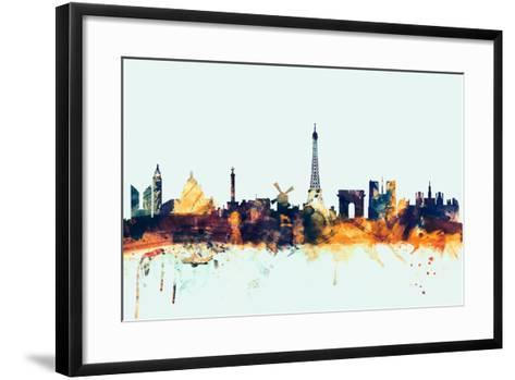 Paris France Skyline-Michael Tompsett-Framed Art Print