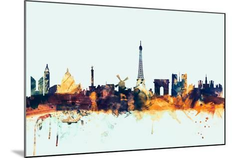 Paris France Skyline-Michael Tompsett-Mounted Art Print