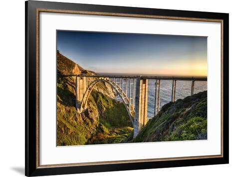 Pacific Highway Bridge-George Oze-Framed Art Print
