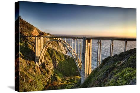 Pacific Highway Bridge-George Oze-Stretched Canvas Print