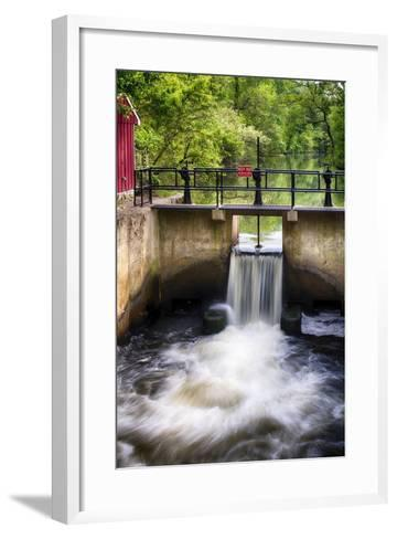 D & R Canal Lock, New Jersey-George Oze-Framed Art Print