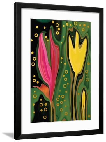 Two Flowers-Rabi Khan-Framed Art Print