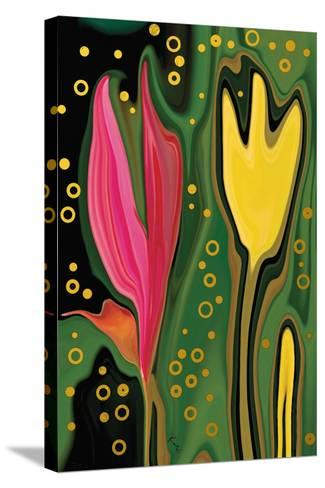 Two Flowers-Rabi Khan-Stretched Canvas Print