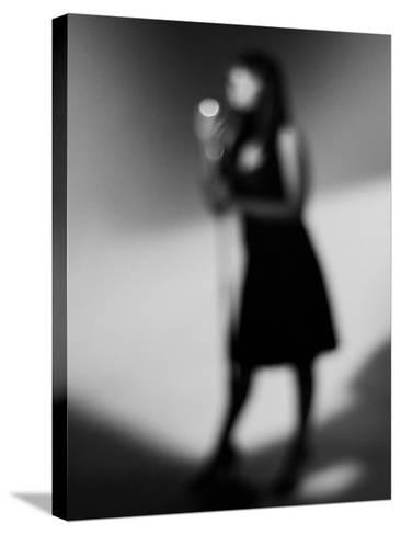 Singer 1 Bw-John Gusky-Stretched Canvas Print