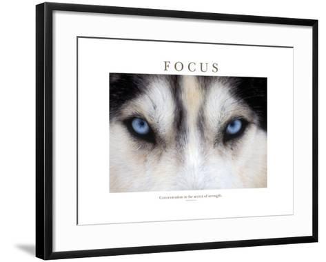Focus - Concentration Is The Secret Of Strength-Brian Horisk-Framed Art Print