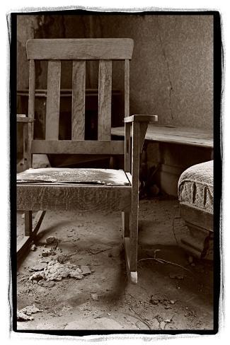 Old Chair, Bodie California-Steve Gadomski-Stretched Canvas Print