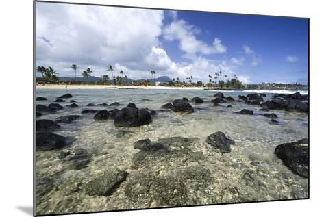 Lava Rocks of Poipu Beach Kauai Hawaii-George Oze-Mounted Photographic Print