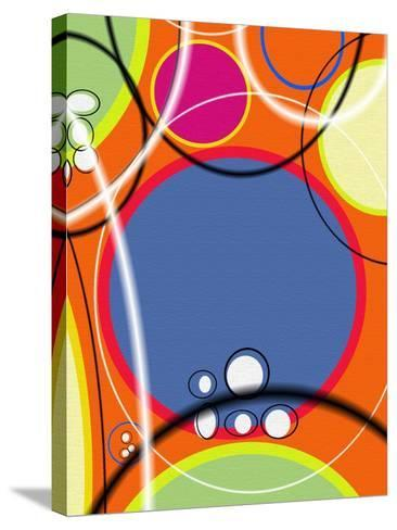 3 of 6 Abstract Art Retro Funk-Ricki Mountain-Stretched Canvas Print