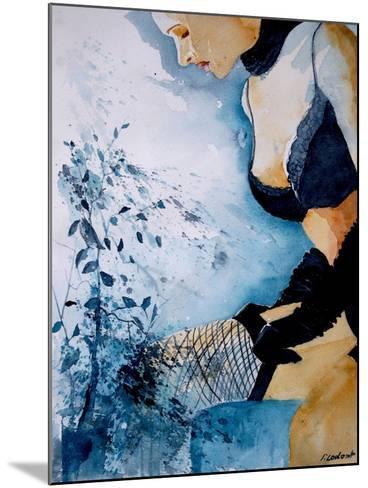 Watercolor Stockings-Pol Ledent-Mounted Art Print