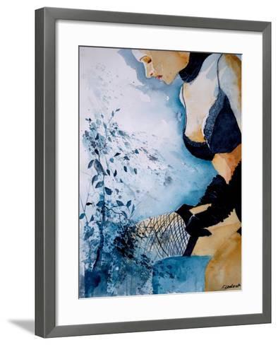 Watercolor Stockings-Pol Ledent-Framed Art Print