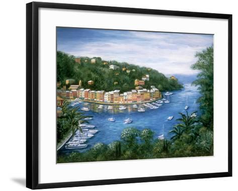 Portofino, A Majestic Panoramic View-Marilyn Dunlap-Framed Art Print