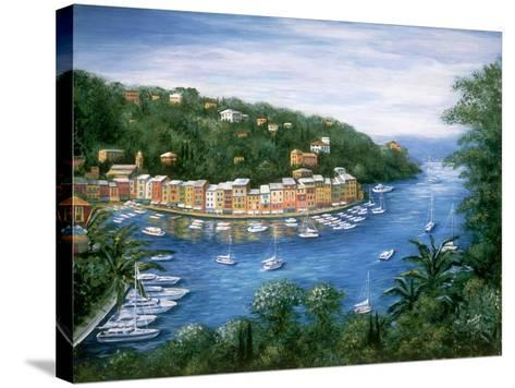 Portofino, A Majestic Panoramic View-Marilyn Dunlap-Stretched Canvas Print