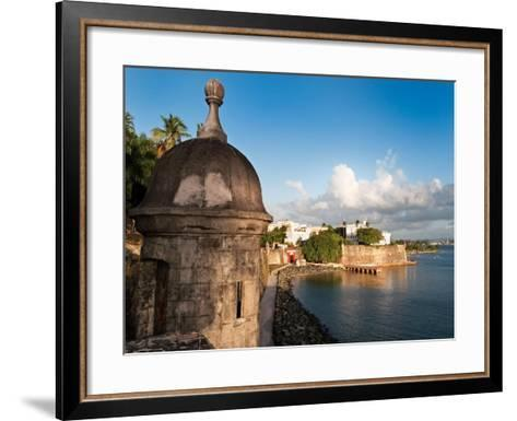 City Walls, Old San Juan, Puerto Rico-George Oze-Framed Art Print