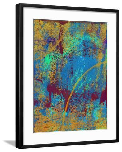 Abstract Solar Eclipse-Ricki Mountain-Framed Art Print