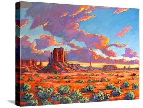 Monument Valley Sunset-Patty Baker-Stretched Canvas Print