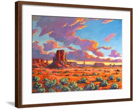 Monument Valley Sunset-Patty Baker-Framed Art Print