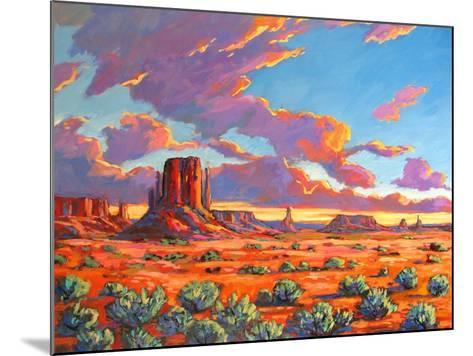 Monument Valley Sunset-Patty Baker-Mounted Art Print