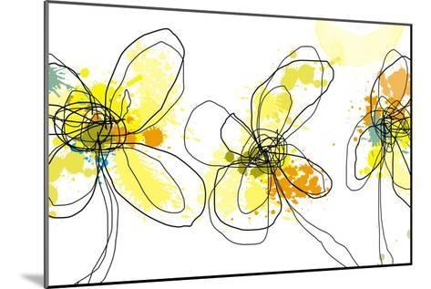 Three Yellow Flowers-Jan Weiss-Mounted Art Print