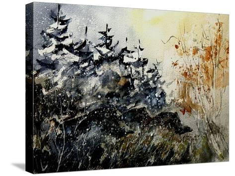 Watercolor Wild Boars-Pol Ledent-Stretched Canvas Print