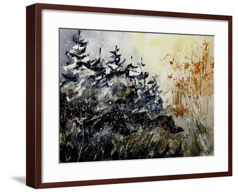 Watercolor Wild Boars-Pol Ledent-Framed Art Print